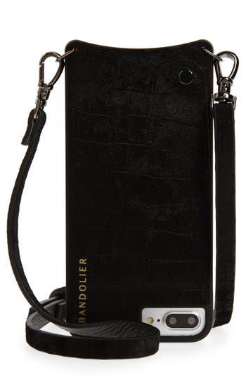 BANDOLIER Emma Iphone 6/7/8 & 6/7/8 Plus Crossbody Case - Black in Black/ Black