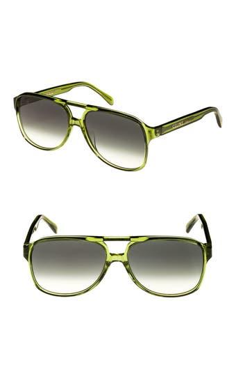 Celine 62Mm Oversize Aviator Sunglasses - Green