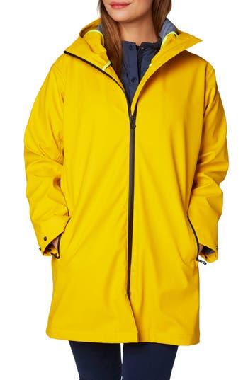 Helly Hansen Copenhagen Hooded Rain Jacket, Yellow