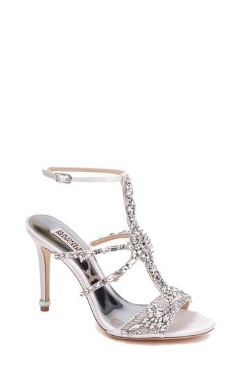 Women's Badgley Mischka Hughes Crystal Embellished Sandal, Size 8.5 M - White