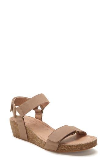 Women's Adam Tucker Shea Wedge Sandal, Size 5.5 M - Beige