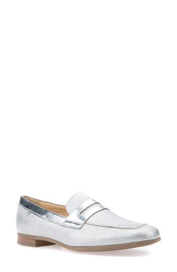 Geox Marlyna Penny Loafer, Metallic