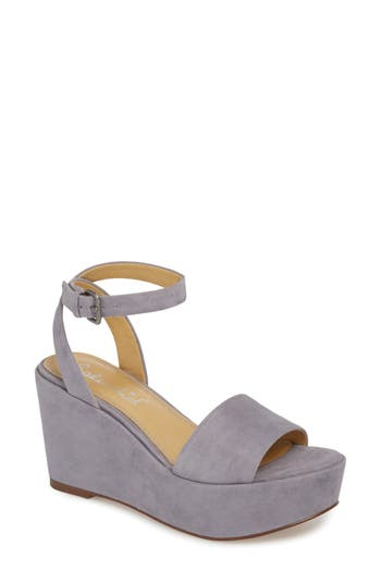 Splendid Felix Platform Wedge Sandal, Grey