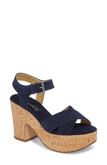 Splendid Flaire Platform Sandal- Blue