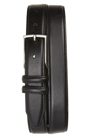 Big & Tall Nordstrom Shop Carter Leather Dress Belt, Black
