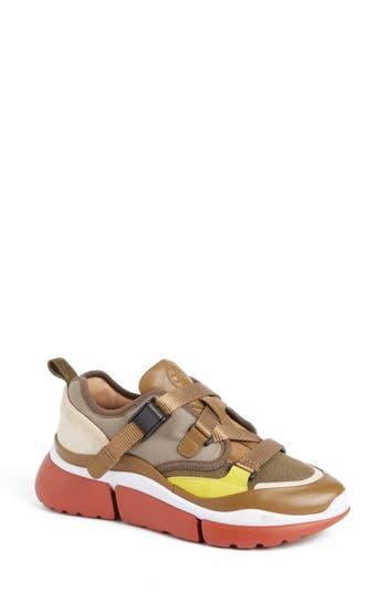 Chloe Sonnie Low Top Sneaker, Green