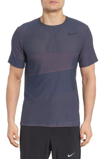 Nike Crewneck Mesh T-Shirt, Blue