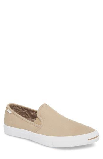 Converse Jack Purcell Low Profile Slip-On Sneaker, Beige