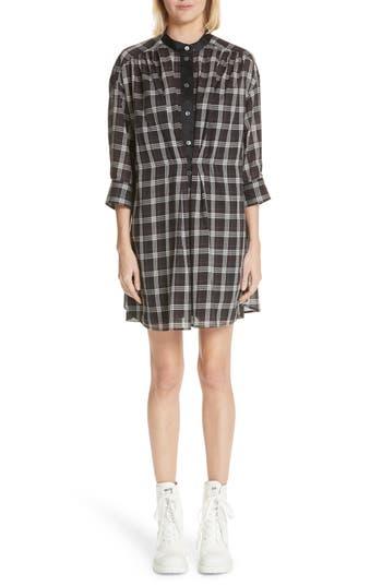 Marc Jacobs Patchwork Plaid Dress, Black