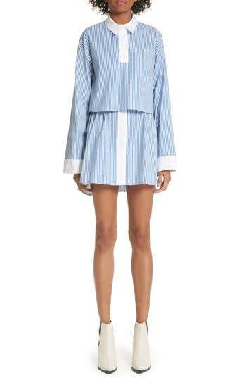 Sandy Liang JODAMO PINSTRIPE DRESS