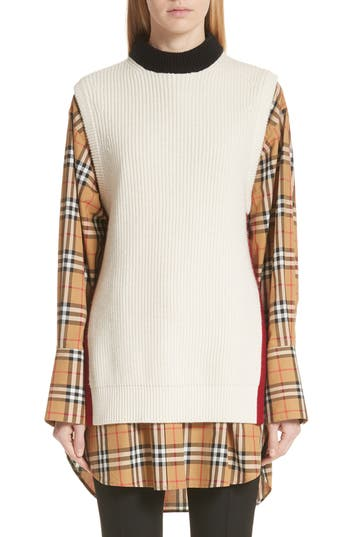 Burberry Knox 55 Wool & Cashmere Sweater, Ivory