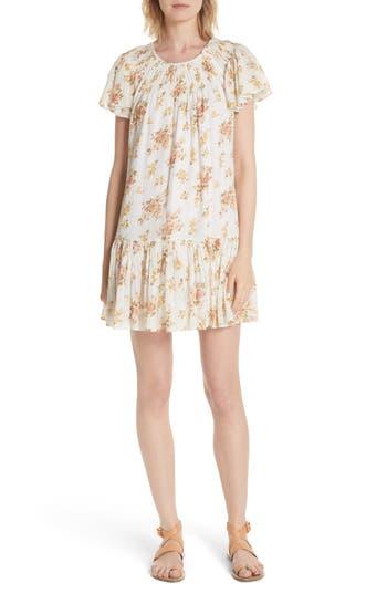 La Vie Rebecca Taylor Madeleine Floral Dress, White