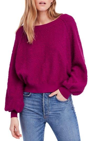 Free People Found My Friend Sweatshirt, Purple