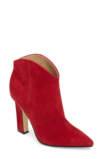 Marc Fisher Ltd Miggi Bootie, Red