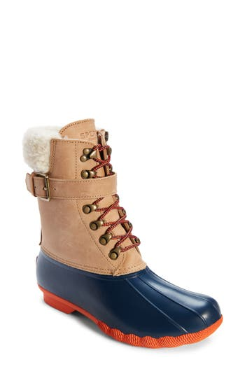 Sperry Shearwater Water-Resistant Genuine Shearling Lined Boot, Brown