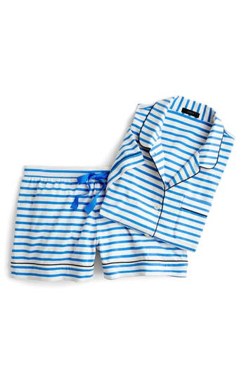 J.crew Dreamy Striped Short Pajamas, Blue