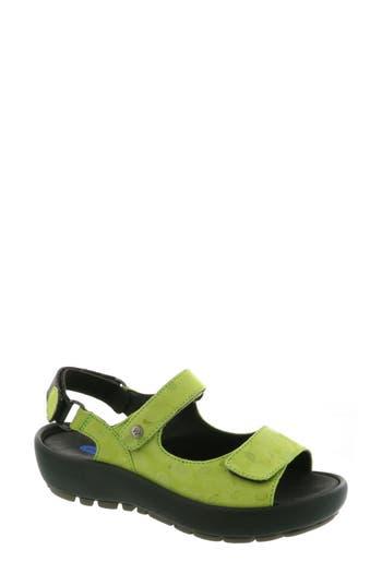 Women's Wolky Rio Sandal, Size 8.5-9US / 40EU - Green