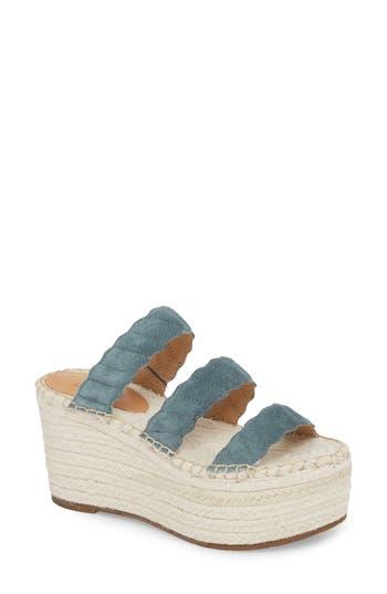Marc Fisher Ltd Rosie Espadrille Platform Sandal, Blue
