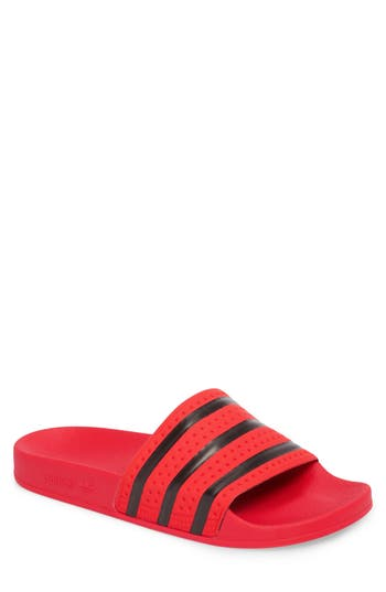 e03e46aff38a76 Adidas Originals Adidas Men S Adilette Slide Sandals From Finish Line In Real  Coral Black