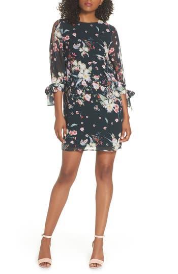 Cooper St Titania Floral Shift Dress, Black