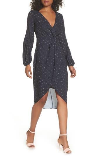 Cooper St Portia Drape Dress, Black
