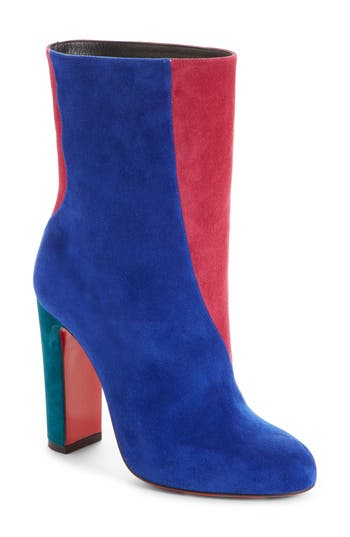 Christian Louboutin Colorblocked Botty Bootie - Blue