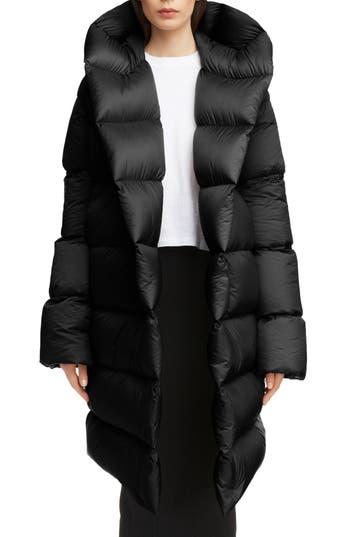 Rick Owens Down Fill Puffer Coat, US / 40 IT - Black