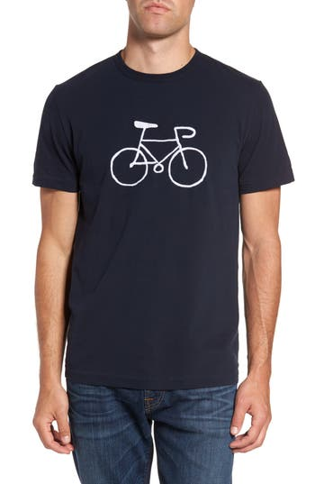 French Connection Embroidered Bike T-Shirt, Blue
