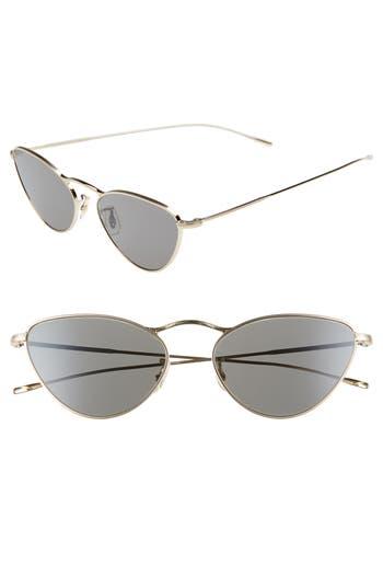 Oliver Peoples Lelaina 5m Cat Eye Sunglasses - Carbon Gray/ Gold