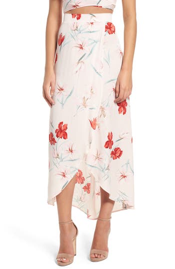 Leith Wrap Maxi Skirt, Pink