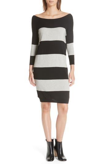 Atm Anthony Thomas Melillo Rugby Stripe Sweater Dress, Black