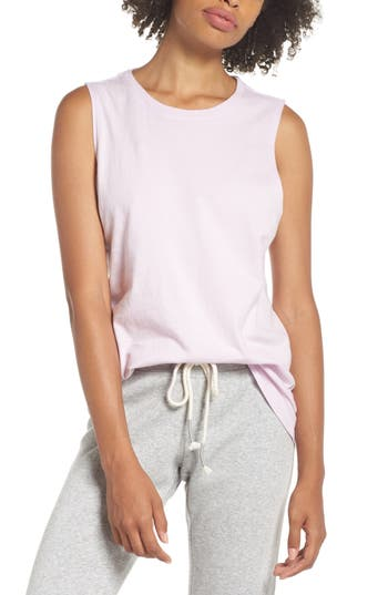 Richer Poorer Muscle Tank, Pink