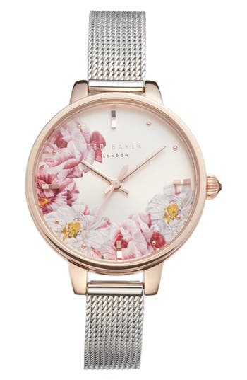 Ted Baker London Kate Mesh Strap Watch,