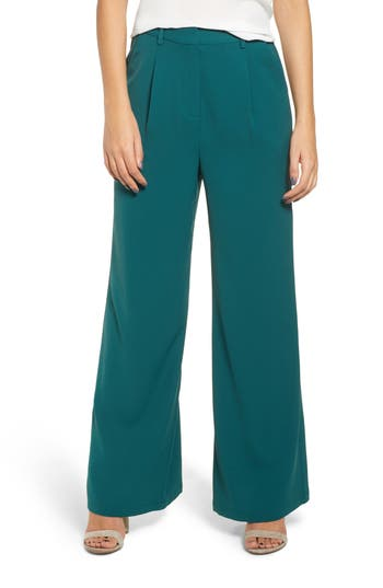 Plus Size Leith High Waist Flare Pants, Green
