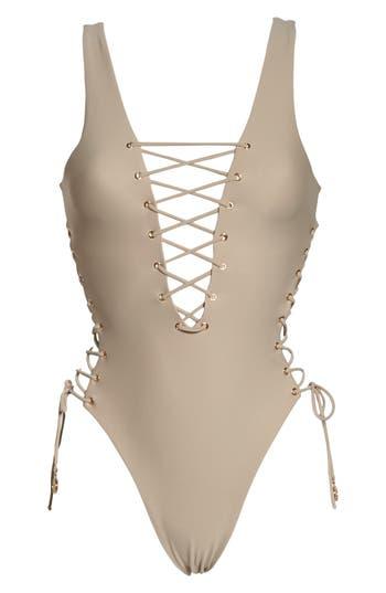 Luli Fama Interlaced One-Piece Swimsuit