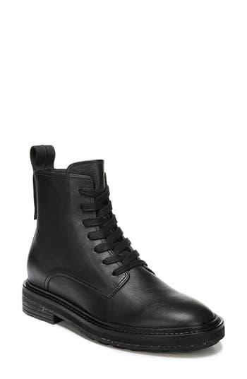 Via Spiga Kinley Combat Boot, Black