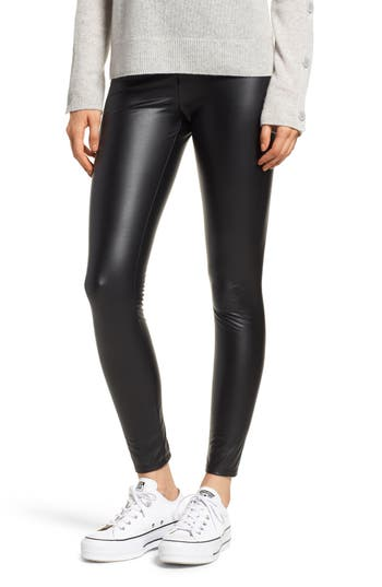 Lysse Faux Leather Leggings, Black