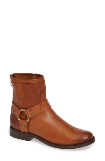 'Phillip' Harness Boot, Whiskey Leather