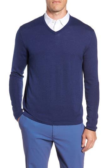 Greyson Guide Merino Wool Blend V-Neck Sweater