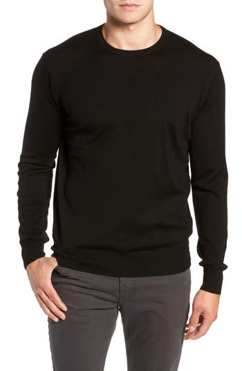 Peter Millar Crown Wool & Silk Sweater, Black