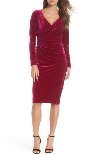 Rockabilly Dresses | Rockabilly Clothing | Viva Las Vegas Womens Vince Camuto Ruched Dress $168.00 AT vintagedancer.com
