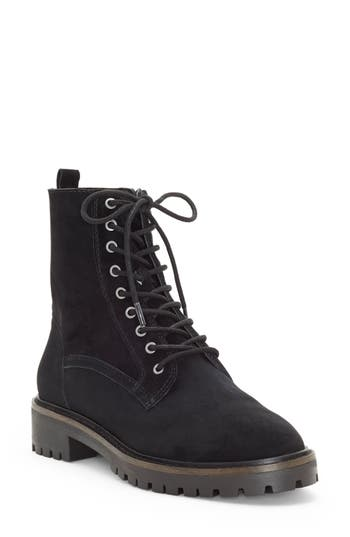 Lucky Brand Idara Lace-Up Bootie, Black