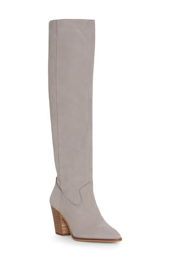 Lucky Brand Azoola Knee High Boot, Grey