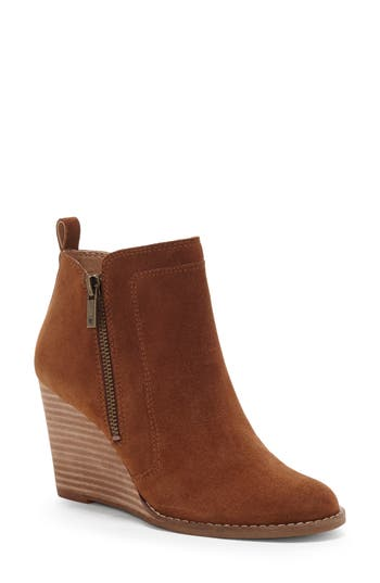 Lucky Brand Yahir Wedge Bootie, Brown