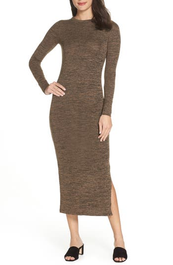 French Connection Sweeter Knit Dress, Brown