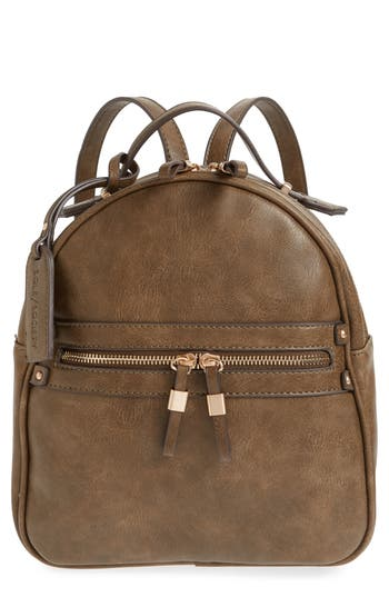 Sole Society Zypa Faux Leather Backpack - Green