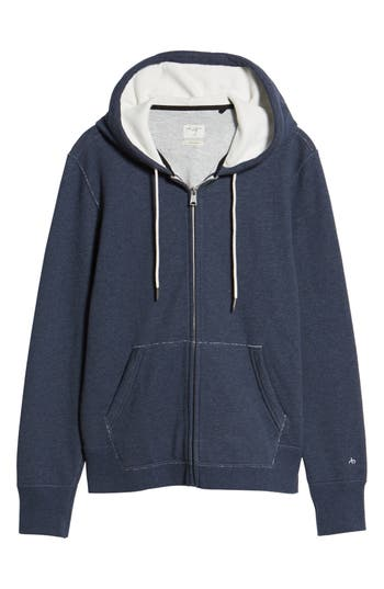 Rag & Bone Standard Issue Zip Hoodie, Blue