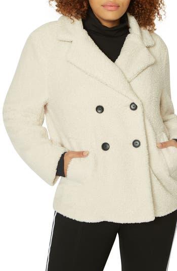 Plus Size Sanctuary Free Spirit Faux Shearling Coat, Ivory