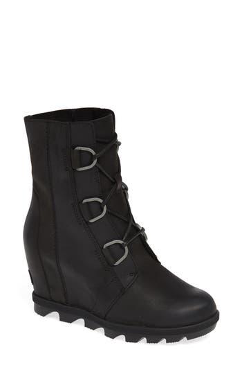 Sorel Joan Of Arctic Ii Waterproof Wedge Boot- Black