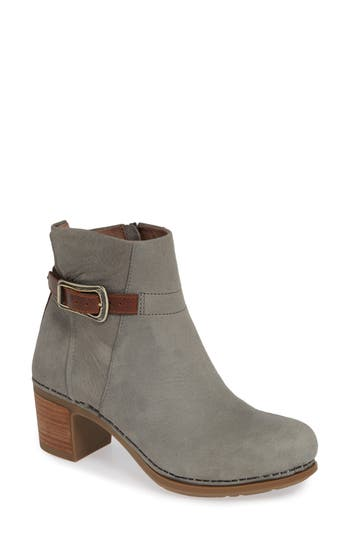 Dansko Hartley Bootie-6- Grey